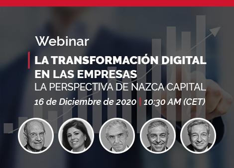 Save the Date!: 16 de diciembre de 2020; 10:30 am – La Transformación Digital en las Empresas